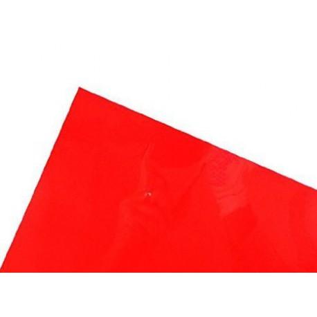 Rotes, transparentes Acetat Materialien
