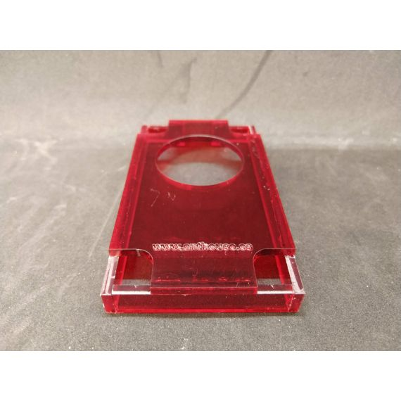 Tops rouges transparents rigides