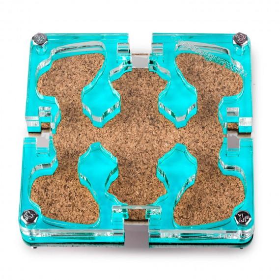 10x10x1,5 cms Modular Corcho de Colores  De Corcho