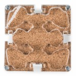 10x10x1,5 cms Modular Colored Cork Mushroom Modular Anthill
