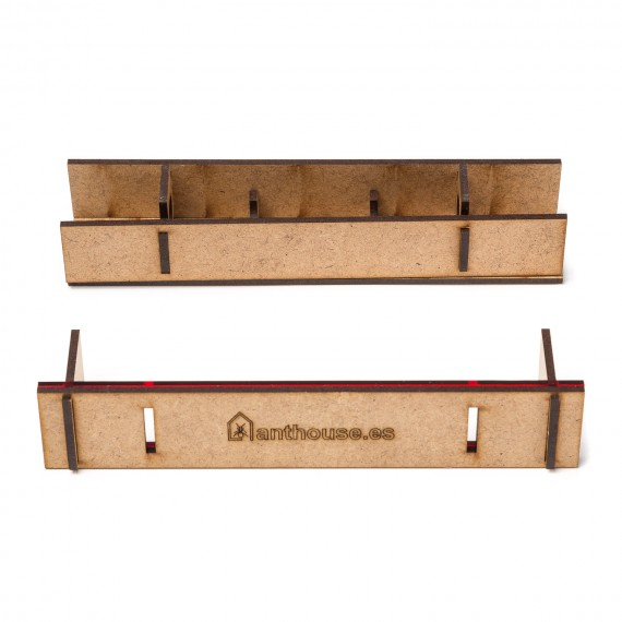 Wooden Test Tube Container Foraging Boxes Anthouse