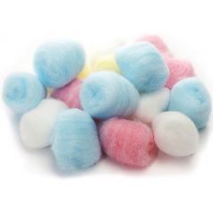 100 multicolor cotton balls (60g) Materials Anthouse