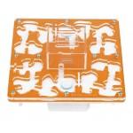 AntHouse-Hori-Acri 20x20x1,5 (Tipo Seta, Con Zona de Forrajeo) Anthouse De Acrílico
