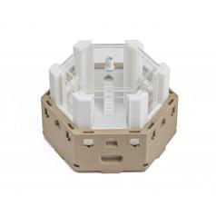 3D sechseckiger modularer...